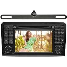 YINUO 7 Pulgadas 2 Din In Dash Estéreo Pantalla Táctil Reproductor De DVD Navegador GPS De Coche Autoradio Bluetooth Para Mercedes-Benz ML-W164/W300/ML350/ML450/ML500(2005-2012) GL-X164/G320/GL350/GL450/GL500(2005-2012) Soporte De USB/ SD/ AM FM Radio/Control Del Volante Incluida La Cámara De Revés