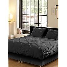 Descanso para cama de matrimonio algodón 100 por ciento/bordados de funda de edredón y de raso, Color