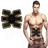 Abdominal Entrenamiento Muscular dispositivos, Novatech Profesional EMS Abdominales de cinturón en casa Fitness Entrenamiento para hombres y mujeres a tonen, abnehmen, trimmer, fino, sudar, Amarillo
