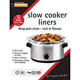 Toastabags Slow Cooker Liner, Transparent, Pack of 5-P