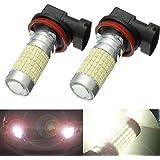 AMBOTHER 2 X H11 Phares Ampoules LED Xénon Feux de Brouillard 1200 Lumens 144 Chipsets avec Projecteur 6000K White DC 12V-24V