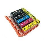 Kompatible PerfectPrint-Ersatzdruckerpatronen (5) für Canon Pixma iP4850 iP4950 iX6550 MG5150 MG5250 MG5300 MG5320 MG5350 MG6150 MG6250 MG8150 MG8170 MG8220 MG8250 MX715 MX885 MX895 Drucker.
