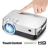 XUEME Projecteur à la Maison Intelligente, Bluetooth HD 720P WiFi Mini-Dispositif de Projection LED, Support U Disque Tablette Ordinateur Portable DVD Console de Jeu