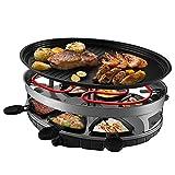 Barbecue Frying Pan Elektrische Raclette-Heizplatte-Partei-Grill-Maschine Mit Der Ovalen Steinheißplatte, Die Für Innentischplatte-Gebrauch - 1500W Groß Ist