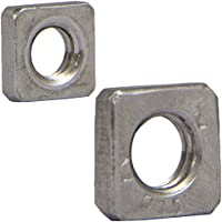50 Stück Vierkantmutter M5 flach Stahl blank DIN 562