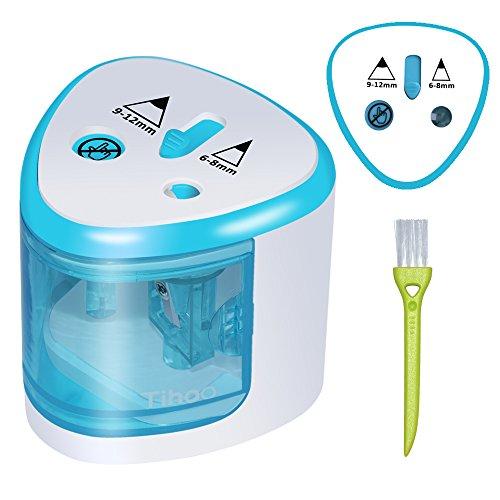 P anspitzer elektrisch 2 größen, spitzer elektrisch kleines elektrisches Zubehör für Kinder Schule Klassenraum, bleistiftspitzer(Blau)