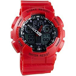 Adixion Sports Black Round Dial Resin Strap Digital Wrist Watch - For Boys & Girls