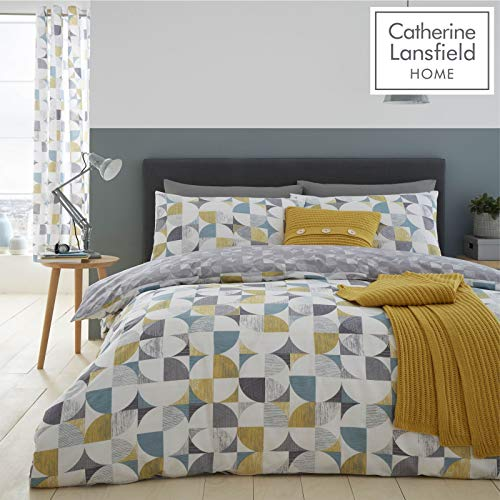 Catherine Lansfield Retro Circles Easy Care Single Duvet Set Multi Best Price and Cheapest