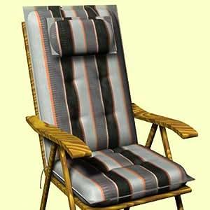 SUN GARDEN -20141 Auflage für Sessel, hoch Dessin Sylt 20141-5