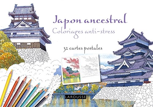Japon ancestral coloriages anti-stress - 32 cartes postales par Collectif