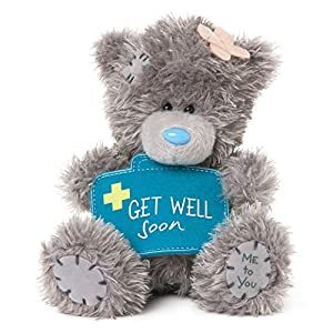 Me To You SG01W4076 - Oso de Peluche,12,7cm de Altura, diseño con botiquín y Texto en inglés Get Well Soon