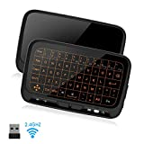 SZILBZ 2.4Ghz Mini Wireless Keyboard,Remote Control with Touchpad Backlight, Air Remote Mouse