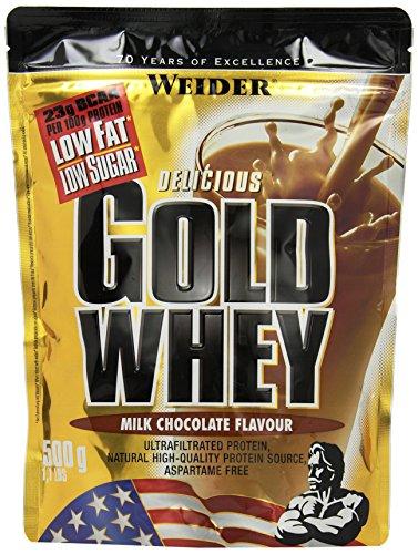 100% Premium Whey Protein (Weider, Gold Whey Protein, Schoko, 1er Pack (1x 500 g))