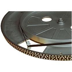 Electrovision - Courroie pour Platine Tourne-Disques Noire - Dimensions: 210mm