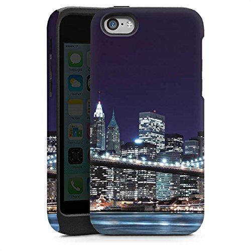 Apple iPhone 5s Housse Étui Protection Coque Pont de Brooklyn New York Pont Cas Tough brillant