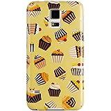 JAMMYLIZARD | Zuckersüße Cupcakes Back Cover Hülle mit Muster für Samsung Galaxy S5 / S5 Neo, SCHOKOLADE