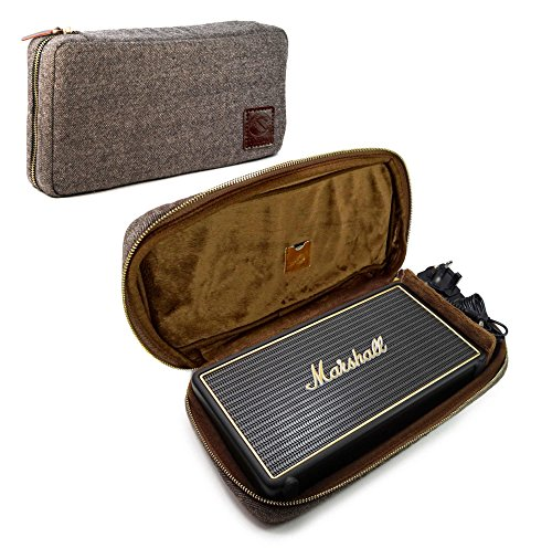 Tuff-Luv Herringbone Tweed NFC Travel case für Marshall Stockwell - Braun