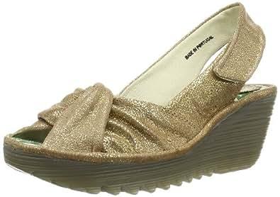 Fly London Women's Yakin Fashion Sandals Stone 2 UK, 35 EU