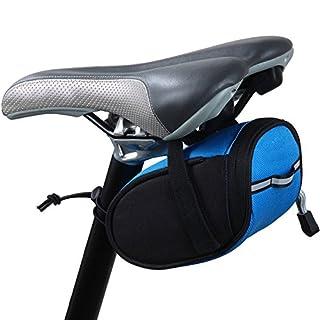 lmeno® Wasserdicht Groß Fahrrad Fahrradtasche erweiterbar/Bike Satteltasche/Tail Tasche/Bike Tasche Rückseite Sitz hinten Rack Schwanz Pakete für Mountain Road MTB Blau blau
