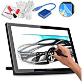 Huion GT-190 19 Inches Drawing Pen Display Graphics Tablets Monitor With USB 3.0 To VGA Adapter, Screen Protector And Pergear Cleaning Kit