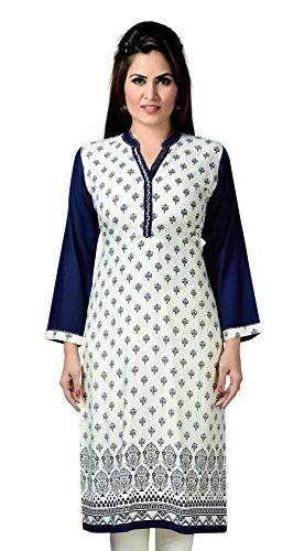 ALC-Creations-White-Blue-Rayon-Kurti