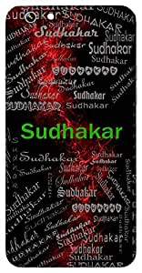 Sudhakar (Mine Of Nectar, Moon) Name & Sign Printed All over customize & Personalized!! Protective back cover for your Smart Phone : Lenovo A6600