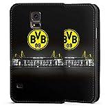 DeinDesign Samsung Galaxy S5 Neo Leder Flip Case Tasche Hülle Borussia Dortmund BVB Stadion
