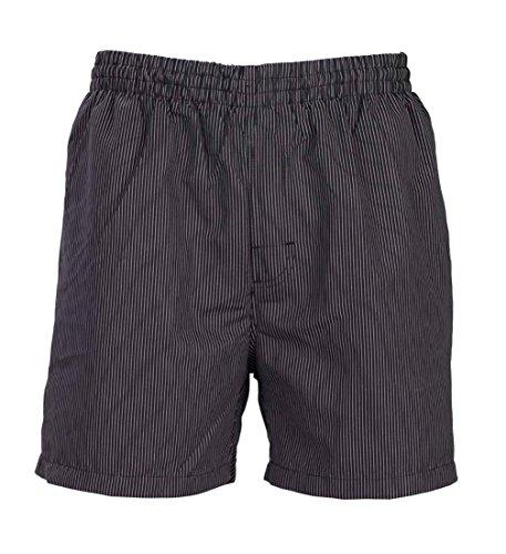 Olibia Mar - Herren Badeshort schwarzgrau mit Nadelstreifen in Größe XXL (Nadelstreifen-bermuda-shorts)