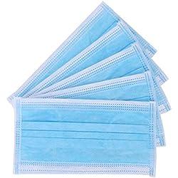 Masques Jetable 50pcs Trois couches Masque de Protection Filtre Bactérien Masque Bouche Earloop Anti-poussière Anti-brume PM2.5 Respirant Masque Visage