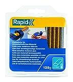 Rapid Niedertemperatur Klebesticks glitzer oval Durchmesser 9 x 94 mm, 125 g, silber/gold, 40108463