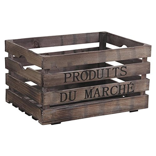 Caisse en bois Produits du Marché