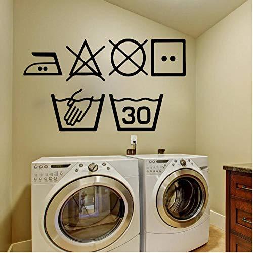 �sche Symbole Wandkunst Aufkleber Küche Waschraum ZeichenWandaufkleber Aufkleber Vinyl Dekoration Wand 57 * 35 cm ()