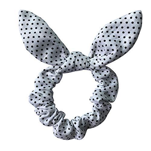 Tipo: Cuerda para el pelo. Para mujer. Estilo: moderno. Material: cuerda elástica, tela. Características: diseño de orejas de conejo, lunares, rayas, impresión de placa, elástico. Tamaño: 15 cm x 10 cm x 5 cm aproximadamente. Notas: Debido a las dife...