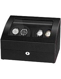 JQUEEN Automatic Watch Winder 4+6 Storage Display Case Watch Box
