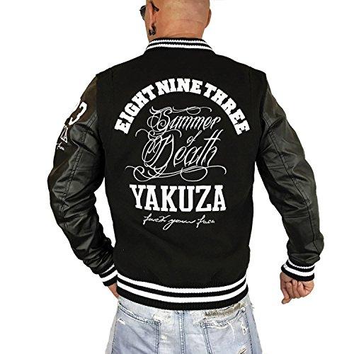 Yakuza Original Herren Summer Of Death Collegejacke Schwarz
