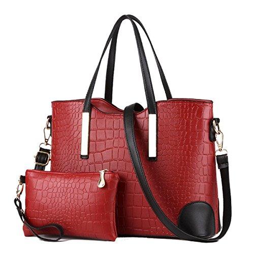 Moda Donna Borse Grandi Capacità Multi-colore Red