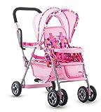 Die besten Joovy Kinderwagen - Joovy 042 Caboose Doppel-Spielzeug-Kinderwagen, rosa Bewertungen