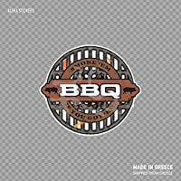Beach345sley BBQ Barbeque Sign Smoke Em If You Got Em Barbecue BBQ Barby Cooking Smoking Roasting Braising and Grilling W7377 Funny Sticker Decal 5x4 inch