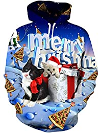 AIDEAONE Unisex 3D Druck Fleece Hoodies Galaxie Pullover Langarm Kapuzenpullover Hip Hop Sweatshirts Kapuzenpulli S-XXXXL