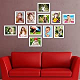 Unique Set Of Photo Frames |Classic Set Of 12 Individual Photo Frames (12-6x8 Inch) | White Home Décor |Wall Unit - By Printelligent