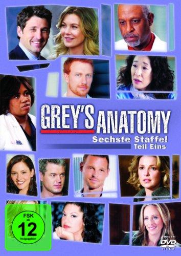 Grey's Anatomy: Die jungen Ärzte - Sechste Staffel, Teil Eins [3 DVDs] (Arzt, Serie, Teil Eins)