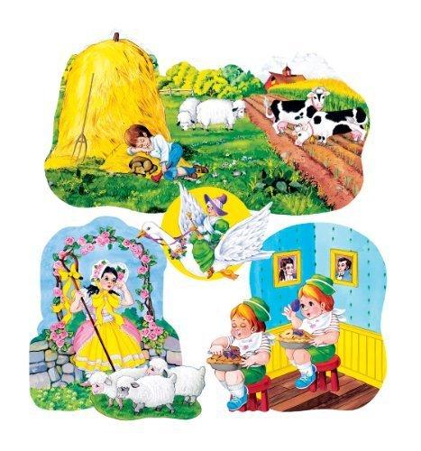 Nursery Rhymes set 3- Felt Figures for Flannel Board 4 stories-Little Boy Blue, Jack Horner, Bo Peep & Mother Goose by Little Folks Visuals