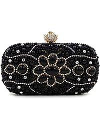 824f968814 FANG1106 Borsa a Mano da Sera con Pochette da Donna Pochette da Sera  Multicolore con Borchie e Diamanti Borsa…