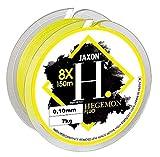 Jaxon HEGEMON Fluo - Hilo de Pesca Trenzado (150 m), Fluo, 0,10mm / 7kg / Fluo