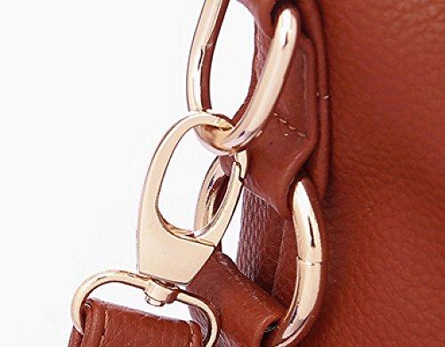 KUWOMINI.Women Bags Tutti I Sacchetti Di Stagione Del Sacchetto Insieme Con Per L'oro Bianco Casuale All'aperto Bianco Nero Blu Black
