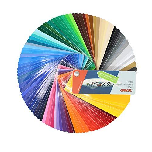 Farbfächer Plotterfolie Oracal Folie 970, 975, 951, 751 C, 651, 631/451 / 7510 Plott Folie Autofolie Werbung (Oracal 751C)