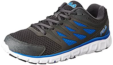 Fila Men's Sendoff 2 Grey and Blue Running Shoes - 10 UK/India (44 EU)