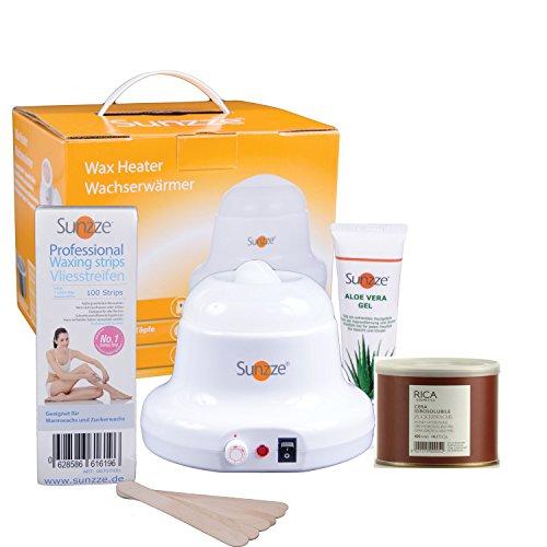 Sugaringset - Dosenerhitzer mit 800ml Zuckerpaste und Zubehör - Das Komplettset für die Haarentfernung zu Hause oder im Salon