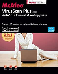 McAfee VirusScan Plus 2007 (3 User Licence) (PC)
