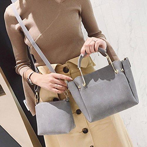 Longra Le donne adattano la spalla singola, il doppio sacchetto, insieme a due pezzi Grigio